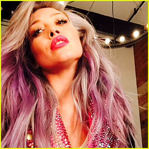 Hilary Duff Debuts New Pink Hair Color!