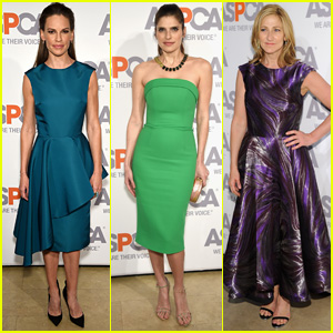 Hilary Swank & Edie Falco Cuddle With Cute Pups at ASPCA's Annual Bergh Ball