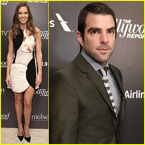 Hilary Swank & Zachary Quinto Celebrate the 35 Most Powerful People in Media