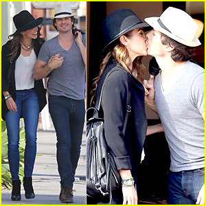 Ian Somerhalder & Nikki Reed Share Passionate Kiss During Venice Outing