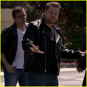 James Corden Stops Los Angeles Traffic to Perform 'Grease' Hits - Watch Now!