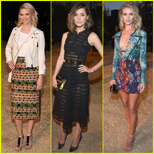 January Jones & Rose Byrne Are Two Stylish Burberry Ladies