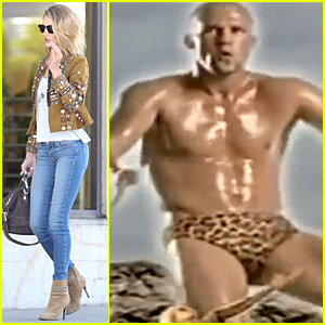 Shirtless Jason Statham Wears Leopard Print Underwear in '90s Music Video - Watch Now!