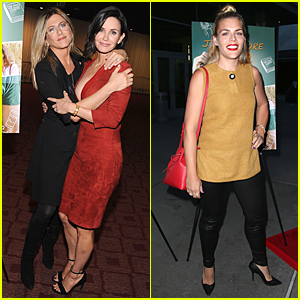 Jennifer Aniston & Busy Philipps Support Courteney Cox at 'Just Before I Go' Premiere