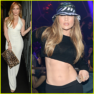 Jennifer Lopez Flashes Toned Abs at Casper Smart's 28th Birthday Celebration