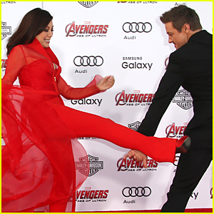 Jeremy Renner & Ming-Na Wen Play Fight at 'Avengers: Age of Ultron' Premiere!