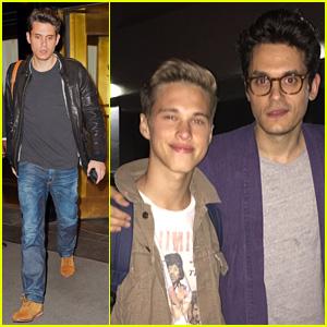 John Mayer Meets Singer Ryan Beatty at Secret Hollywood Show