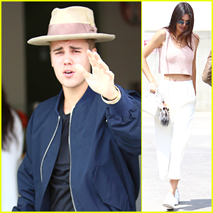 Justin Bieber, Kendall Jenner, & Hailey Baldwin Hang Out Together at Duff's CakeMix