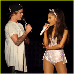 Justin Bieber Surprises Ariana Grande's Concert Crowd Again, Performs 'Where Are U Now'! (Videos)