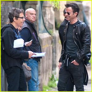 Justin Theroux & Ben Stiller Get to Work on 'Zoolander 2'