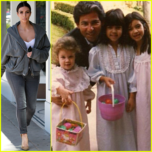 Kim, Kourtney, & Khloe Kardashian Look So Cute in This Vintage Throwback Easter Pic