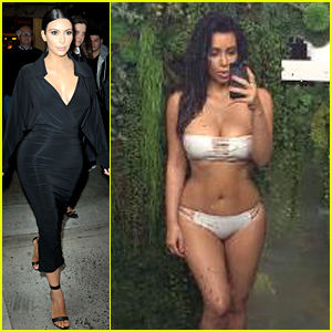 Kim Kardashian Celebrates Earth Day with a Bikini Selfie