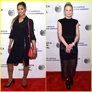 Laverne Cox & Jennifer Morrison Get Stylish for 'The Wannabe' Premiere