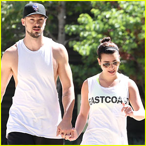 Lea Michele & Matthew Paetz Hit The Trails To Kickstart Weekend