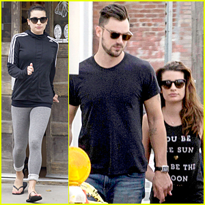 Lea Michele & Matthew Paetz Relax at New Orleans Spa