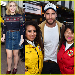 Liam Hemsworth & Kiernan Shipka Show Support for Schools