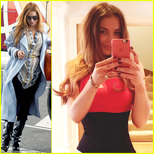 Lindsay Lohan Shows Off Her Itty Bitty Waist - See the Selfie!