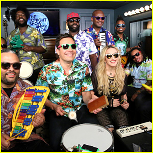 Madonna Performs 'Holiday' With Jimmy Fallon & The Roots on Classroom Instruments - Watch Now!