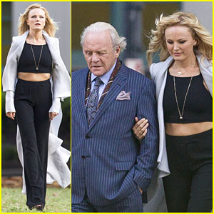 Malin Akerman Gets to Work on 'Beyond Deceit' With Anthony Hopkins