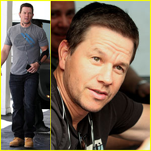 Mark Wahlberg Rocks an Arm Brace After an Injury