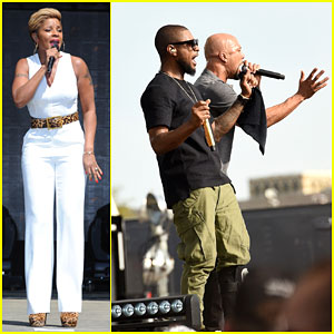 Mary J Blige & Usher Bring Down the House at Global Citizen Earth Day 2015