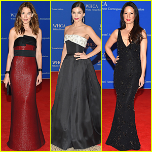 Michelle Monaghan & Jenna Dewan-Tatum Are Beautiful Brunettes at White House Correspondents' Dinner 2015