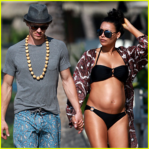 Naya Rivera Displays Her Growing Baby Bump in a Bik