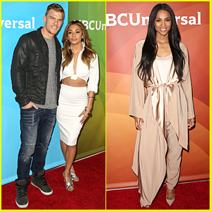 Nicole Scherzinger Looks White Hot in Midriff-Baring Outfit at NBC Summer Press Day