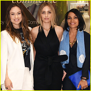 Olivia Wilde Gets Support From Rosario Dawson at Her H&M Conscious Commerce Pop-Up Shop Opening!