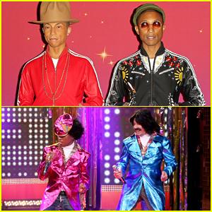 Pharrell Williams & Jimmy Fallon Become '80s R&B Duo Afro & Deziak on 'The Tonight Show' - Watch Here!