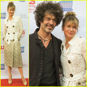 Renee Zellweger & Doyle Bramhall II Cuddle Up at One Starry Night Gala 2015!