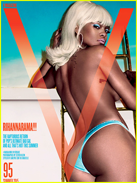 Rihanna Goes Topless & Shows Off Her Booty for 'V' Magazine