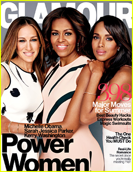 Kerry Washington, Sarah Jessica Parker, & First Lady Michelle Obama Share Glamour's May Cover