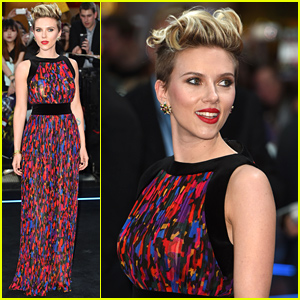 Scarlett Johansson Is Colorful Chic for 'Avengers: Age of Ultron' Premiere!
