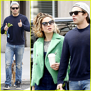 Sebastian Stan & Girlfriend Margarita Levieva Enjoy Sunday Stroll in NYC