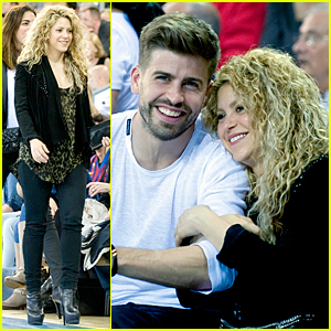 Shakira & Gerard Pique Cuddle Up at Euroleague Basketball Playoff Game