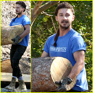 Shia LaBeouf Channels His Inner Lumberjack!