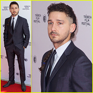 Shia LaBeouf Shaves Part of His Head & Keeps His Rattail Intact