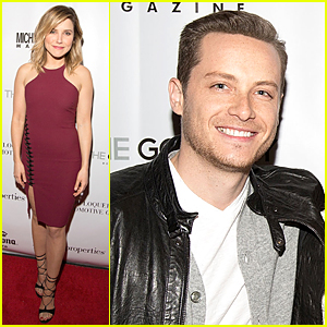Sophia Bush Gets Some Love From Boyfriend Jesse Lee Soffer at Michigan Avenue Cover Party