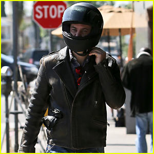 Taylor Kitsch Shows Off His Biker Bad Boy Side