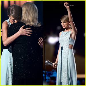 Taylor Swift's Mom Andrea Gives Emotional Speech at ACM Awards 2015 (Video)