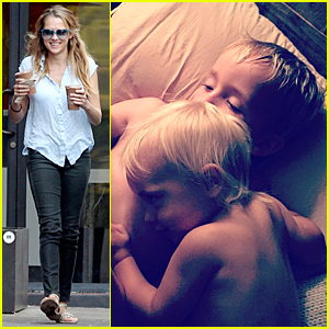 Teresa Palmer's Cute Sons Are Ready For Bed Time Story