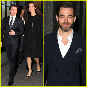 Tom Cruise & Chris Pine Suit Up To Celebrate Armani's 40th Anniversary!