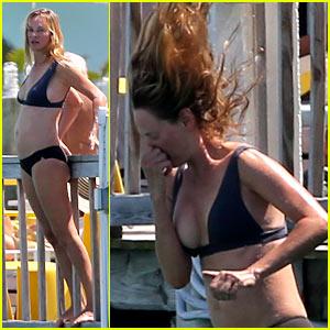 Uma Thurman Takes the Miami Plunge in Her Bikini