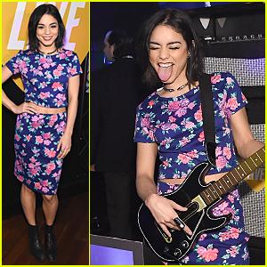 Vanessa Hudgens Flashes Toned Tummy at Guitar Hero Launch