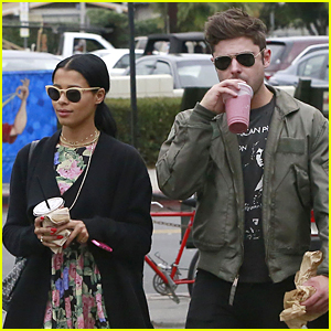 Zac Efron & Girlfriend Sami Miro Satisfy Their Smoothie Craving