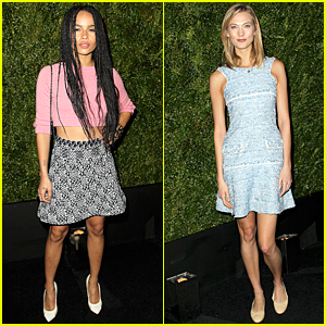 Zoe Kravitz & Karlie Kloss Have Legs For Days at Tribeca Dinner