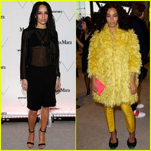 Zoe Kravitz Goes Sheer While Solange Knowles Wears Yellow Fur at Whitney Museum Dinner