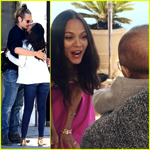 Zoe Saldana Works Out in Front of Her Babies! (Video)