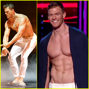 Alan Ritchson Goes Shirtless for 'I Can Do That' Aerial Dance with Nicole Scherzinger! (Video)